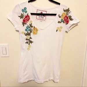 Johnny Was embroidered tee, S